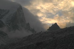 Dingboche Mountain Timelapse 2 Stock Footage