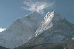 Dingboche Mountain Timelapse 3 Stock Footage