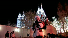 Bagpipe Christmas Temple Square P HD Stock Footage