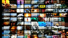 multimedia technology computer video screens information data television - stock footage