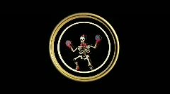 Dancing skeleton- 3 looping variations Stock Footage