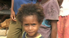 Young Girl From Papua New Guinea Stock Footage