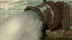 Rusty Pipe & Gushing Water Stock Footage