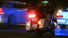 Stock Video Footage of Motorcycle cop.