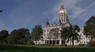 Stock Video Footage of Connecticut State Capital Building