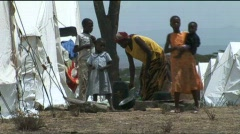 IDP Camp in Naivasha, Kenya Stock Footage