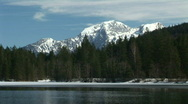 HD1080i Lake in the Alps. Wintertime. Mountains. Snow. Stock Footage