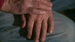 Hands of a Man in His 60's (1 of 4) Stock Footage