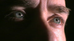 Eyes of a Man in His 30's (1 of 4) Stock Footage