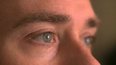 Eyes of a Man in His 30's (3 of 4) Stock Footage