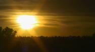 Cloudy desert sunset in December Stock Footage
