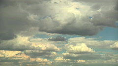 Drifting afternoon clouds Stock Footage