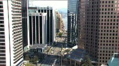 Vancouver Downtown traffic Stock Footage