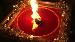 HD1080i Big outdoor candle on x-mas Stock Footage