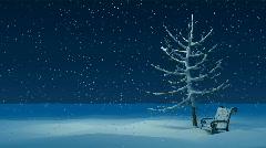 Winter night Stock Footage