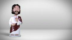Jesus bobblehead 720 Stock Footage