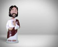 Jesus bobblehead PAL Stock Footage