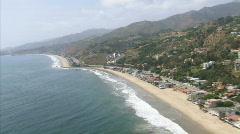 LA aerials pacificcoast hwy16  Stock Footage