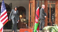 Condoleeza Rice in Kenya - stock footage