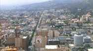 LA aerials downtown3 Stock Footage