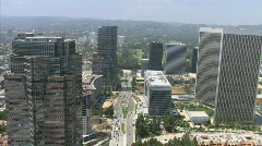 LA aerials downtown golfcourse4 - stock footage