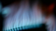 Close view of a industrial gas burner Stock Footage