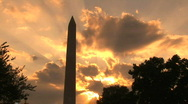 Stock Video Footage of Washington Monument, time lapse