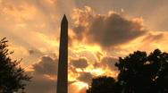 Washington Monument at Sunset, time lapse Stock Footage