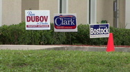 Stock Video Footage of Polling Place Campaign Signs