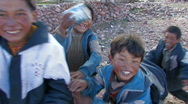 Stock Video Footage of Children in Tibet.