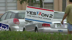 Polling Place Campaign Signs Stock Footage