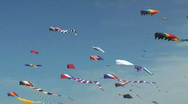 Kites Flying at Kite Festival in Washington State Stock Footage