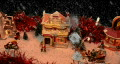 Holiday village scene with snow - 1 HD Footage