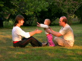 Stock Video Footage of Happy family in the park 1 NTSC version