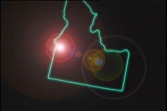 Map Graphic Idaho Stock Footage