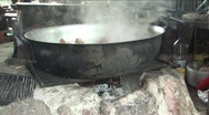 Stock Video Footage of Roadside cafe cooking lunch in Peru