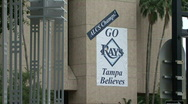 Stock Video Footage of Go Rays Banner