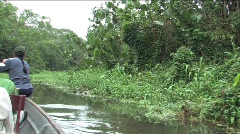 Canoeing the Amazon rivers - stock footage