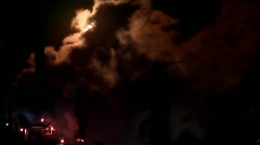 Refinery Fire 1 (1080) Stock Footage