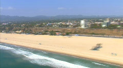 LA aerials pacificcoast hwy fast2 Stock Footage