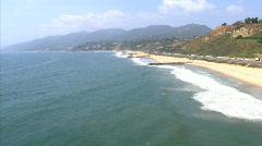 LA aerials pacificcoast hwy fast1 Stock Footage
