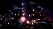 Stock Video Footage of Colorful Refinery (1080)
