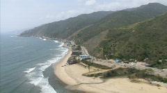 LA aerials pacificcoast hwy13 Stock Footage