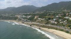 LA aerials pacificcoast hwy12 Stock Footage