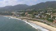 LA aerials pacificcoast hwy12 Stock Footage