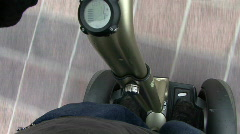 Segway POV Stock Footage