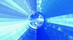 Blue futuristic tunnel Stock Footage