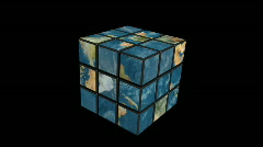 Earth rubik Stock Footage