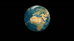 Earth cube Stock Footage