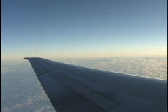 Airplane Wing In-Flight Stock Footage